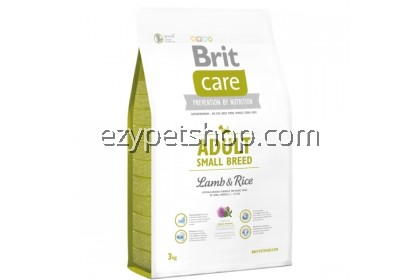 Brit Care Adult Small Breed Lamb & Rice - Pet Food / Dog Food / Dry Food (3KG)